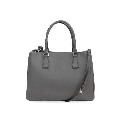 saffiano leather bag grey